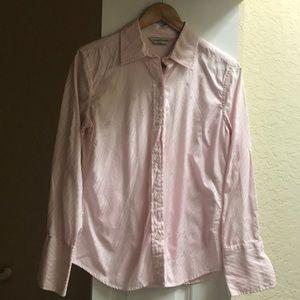 LN Womens M pink button down